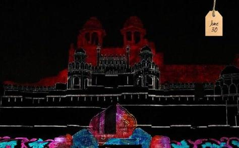 The Sound and Light Show at Purana Qila (Old Fort), depicting the story of Delhi