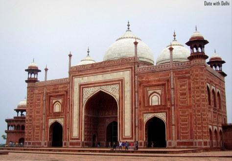 The Mosque beside the Taj Mahal, Agra